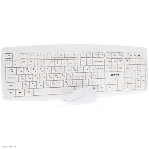 Комплект клавиатура+мышь Smartbuy SBC-212332AG-W One, White