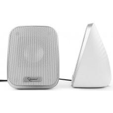 Акустическая система 2.0 Gembird SPK-100-W белый