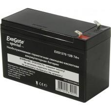 Аккумулятор 12В 7Ач Exegate Special EXS1270 клеммы F2 (252436)