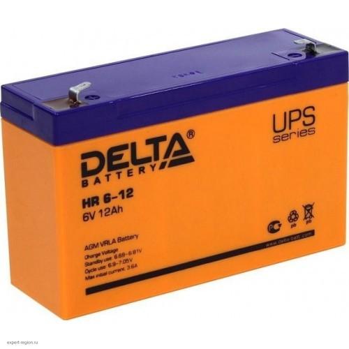 Аккумулятор DELTA HR 6-12 6V 12Ah (151x50x100мм/1.95кг)