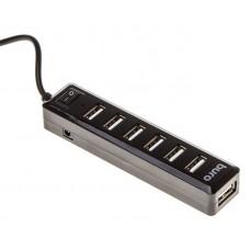 Концентратор USB 2.0 HUB 7-port Buro BU-HUB7-1.0-U2.0  черный
