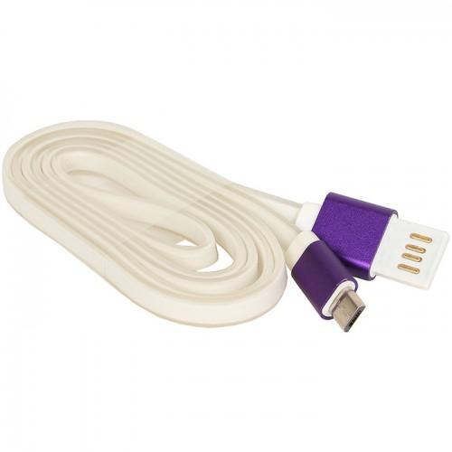 Кабель USB 2.0 Cablexpert AM/microBM 5P, 1м, силиконовый шнур, разъемы фиолетовый металлик (CC-mUSBp1m)