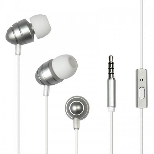 Наушники Dialog ES-F55 (silver) проводные с микрофоном