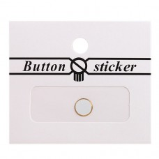 Наклейка Touch стикер-кнопка для Apple iPhone 5 (white/gold)