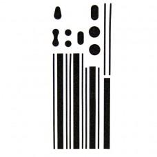 Наклейка i-color 012 (black) для Apple iPhone 4/4S