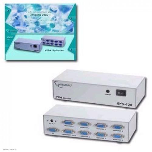 """Разветвитель VGA 1 компьютер-8 мониторов """"VGA-108E"""" (GVS128)/(DSVGA801/MSV1815)"""