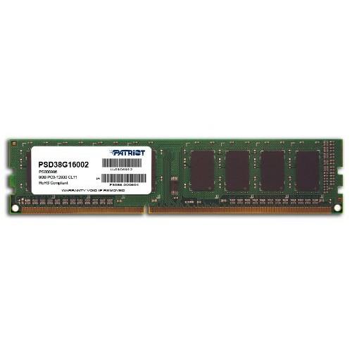 Модуль DIMM DDR3 SDRAM 8192 Мb Patriot (PC12800, 1600MHz) Patriot (PSD38G16002)