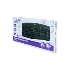 Клавиатура CBR KB 236НМ, 104+ 8 доп. кл., 2-порта USB, перекл. языка 1й кнопкой, провод 1.8 метра, U