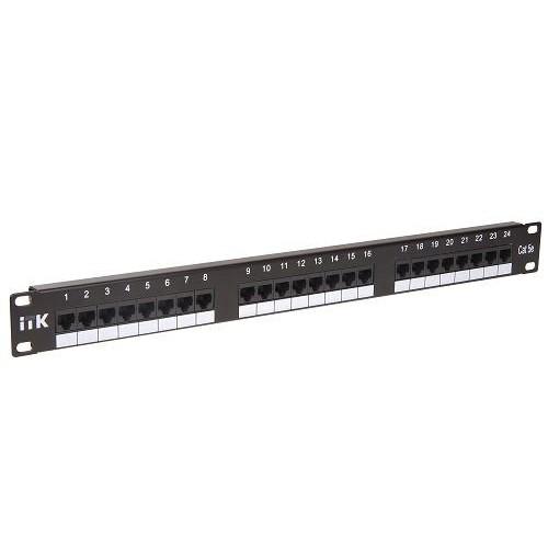 """Патч-панель ITK 19"""", 1U, Кат 5е, UTP, 24 порта (PP24-1UC5EU-D05)"""