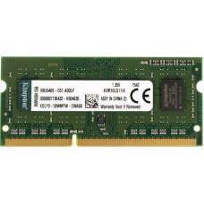 Модуль памяти SODIMM DDR3L SDRAM 4096 Mb  CL11 Kingston (PC12800, 1600MHz) (KVR16LS11/4)