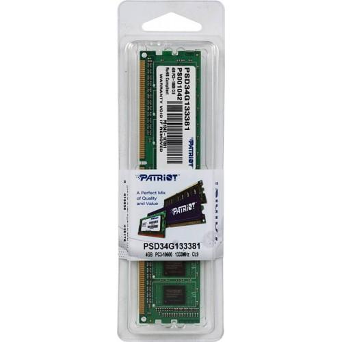 Модуль DIMM DDR3 SDRAM 4096 Mb Patriot