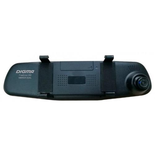 Автомобильный видеорегистратор Digma FreeDrive 303 MIRROR DUAL черный