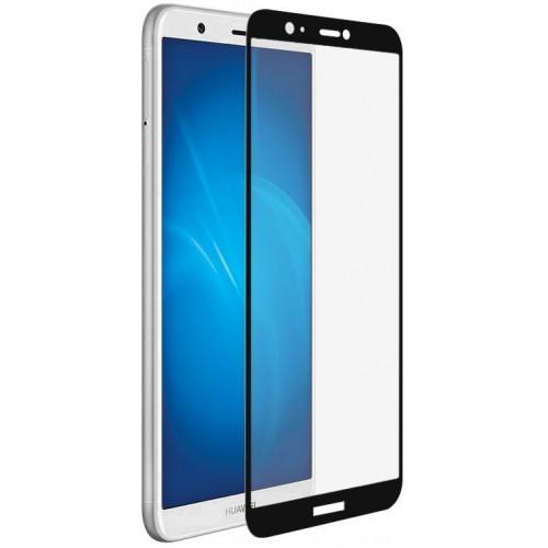 Защитное стекло DF для смартфона Huawei P Smart, с черной рамкой, ударопрочная (hwColor-37)