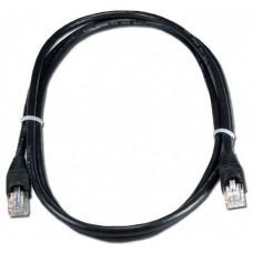 Патч-корд UTP Cat.5e, 0.5м, Greenconnect литой, позолоченные контакты, 24AWG, черный (GCR-LNC06-0.5m)