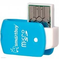 Устройство чтения/записи Smartbuy (External/USB 2.0/MicroSD/SD/TF) Blue (SBR-706-B)