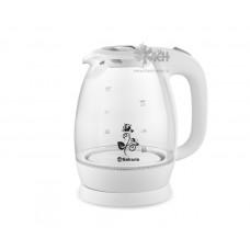 Чайник Sakura SA-2715W white (1.7л/1850-2200Вт/стекло)