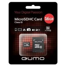 Карта памяти microSDHC 16Gb Qumo Class 10 (QM16GMICSDHC10)