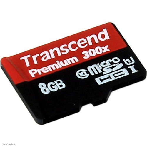Карта памяти microSDHC 8Gb Transcend Class 10 UHS-I без адаптера (TS8GUSDCU1)