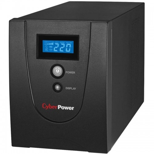 ИБП CyberPower Value 1500EILCD Black (1500ВА/900w/6xEuro/RJ-11/RJ-45/USB/RS-232/Display)