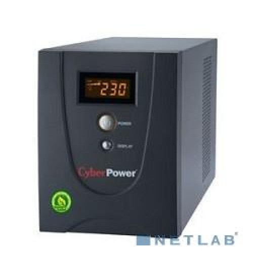 ИБП CyberPower Value 2200ELCD Black (2200ВА/1320w/4xEuro/RJ-11/RJ-45/USB/RS-232/Display)
