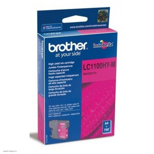 Картридж Brother LC1100HYM magenta для Brother DCP-6690CW (750стр.)