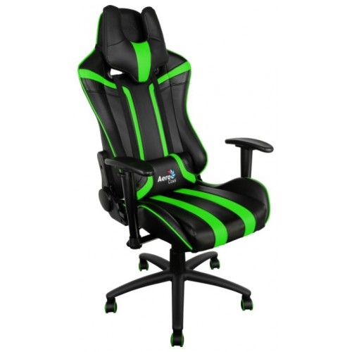 Кресло игровое Aerocool AC120 AIR-BG Черно-зеленое
