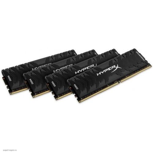 Комплект модулей DIMM DDR4 4*8192Mb (PC4-26600/3333Hz/CL16/RTL) Kingston HyperX Predator (HX433C16PB3K4/32)