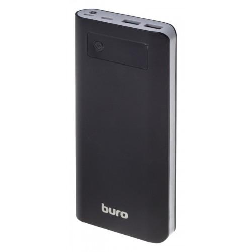 Портативный аккумулятор Buro RB-20000-LCD-QC3.0-I&O black (Li-Ion/20000мAч/3000мА/3А+1.5А/3xUSB)