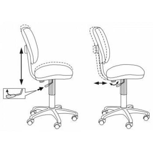 Кресло детское Бюрократ CH-204NX/PENCIL-GN
