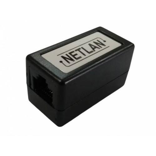 Соединитель Netlan RJ-45/RJ-45 кат.5e, черный, 1шт. (EC-UCB-55-UD2-BK)