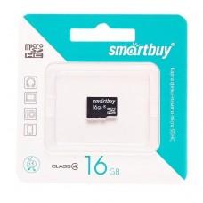 Карта флэш-памяти MicroSD 16 Гб Smart Buy без адаптера (class 4)