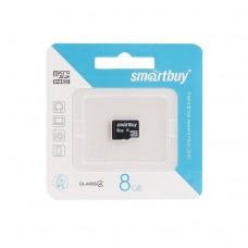 Карта флэш-памяти MicroSD  8 Гб Smart Buy без адаптера (class 4)