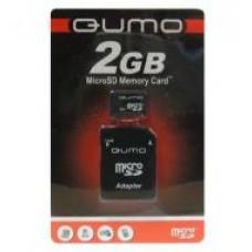 Карта флэш-памяти MicroSD  2 Гб Qumo +SD адаптер