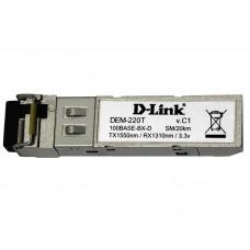 Трансивер D-link DEM-220T 100Base-BX-D Single-Mode 20KM SFP Transceiver