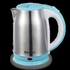 Чайник SAKURA SA-2147BL 1,8 л нерж+голубой диск