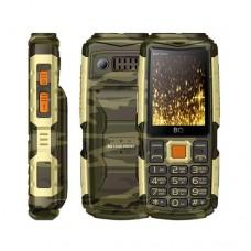 Мобильный телефон BQ BQM-2430 Tank Power Camouflage+gold