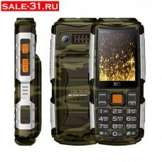 Мобильный телефон BQ BQM-2430 Tank Power Camouflage+silver