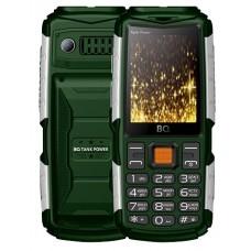 Мобильный телефон BQ BQM-2430 Tank Power green silver