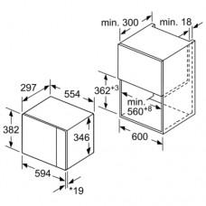 Встраиваемая микроволновая печь BOSCH BFL524MS0