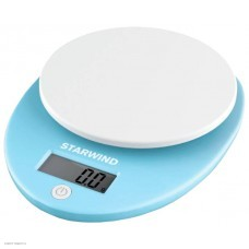 Весы кухонные STARWIND SSK2256,  голубой 5кг