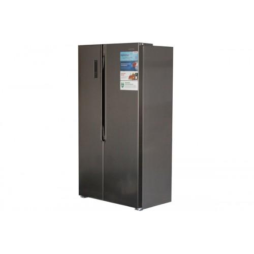 Холодильник с распашными дверьми LERAN SBS 300 IX NF