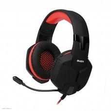 Игровые наушники проводные SVEN AP-G988MV черный-красный