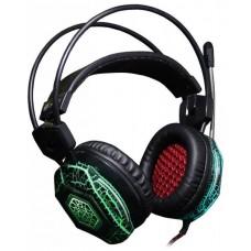 Наушники с микрофоном Oklick HS-L500G TOXIC Black (105dB/32om/20-20000Hz/2.2m)
