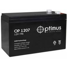Аккумулятор Optimus OP 1207 (12V/7Ah/151х65х100мм)