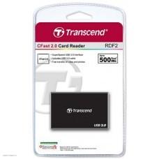 Устройство чтения/записи Transcend Black (Multi-Format/USB 3.0) (TS-RDF2)