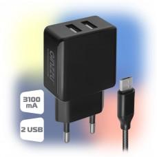 Сетевое зарядное устройство Ginzzu GA-3312UB Black (GA-3312UB)
