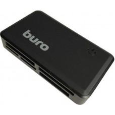 Концентратор USB 2.0 HUB Buro BU-CR-151 Black (TF/SD/SDHC/MicroSDHC/MMC)
