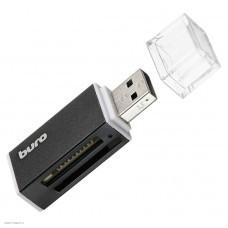 Концентратор USB 2.0 HUB Buro BU-CR-3104 Black (TF/SD/SDHC/MicroSDHC/MMC)
