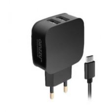 Зарядное устройство GINZZU GA-3010UB Black (2USB/2.1A/microUSB cable) (GA-3010UB)