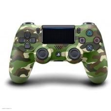 Аксессуар для PS4 SONY Dualshock 4 Cont Green Camo v2/RUS (CUH-ZCT2E)